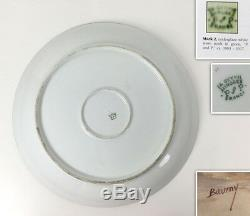 13.6'' Limoges France chargers/ plates with the hand-painted fruits, 1903-1917