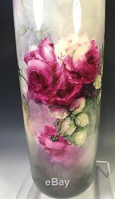 15.5belleek Antiques Hand Painted Roses Vase