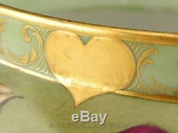 1897 Antique D&C Limoges France HANDPAINTED ROSES & GOLD JARDINIERE VASE PLANTER
