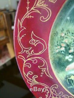1898 Hand Painted Signed Limoges Cfh France Plate Fairy Woman's Portrait. 10