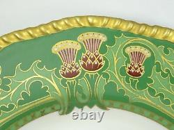 ANTIQUE 19c. HAND PAINTED GILDED D&C R. DELINIERES & CO LIMOGES CABINET PLATE