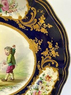 ANTIQUE PORCELAIN HAND PAINTED LIMOGES PLATE, BOWL mid 18th century FRANSE