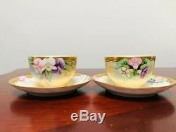 Antique 5-Piece T & V Limoges France Hand Painted Vintage Tea Set