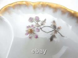 Antique Hand Painted Haviland Limoges France Oyster Plate, c1880