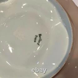 Antique Handpainted Victorian Haviland Limoges 4 well Oyster Plate c. 1894-1931