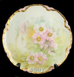 Antique Haviland Limoges Hand Painted Cabinet Plate Signed H. G. Eldridge