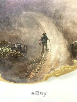 Antique JPL Jean Pouypat Limoges France Hand Painted Plate Night Trail Signed