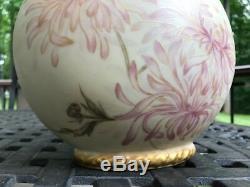 Antique Jean Pouyat (J. P. L.) Limoges France Hand Painted Gilt Vase-Marked 11.5