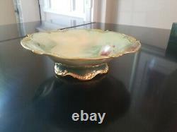 Antique Jean Pouyat J. P. L. Stouffer France Limoges Hand Painted Bowl Signed10
