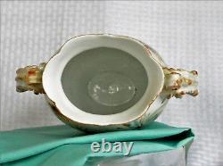 Antique Jean Pouyat Limoges Hand Painted Porcelain Vase