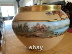 Antique Limoges France Hand Painted Center Bowl Porcelain