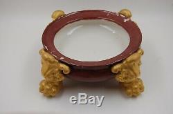 Antique Limoges Grapes Hand Painted Cups Punch Bowl Vase Set. 6 Pc