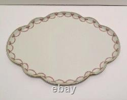 Antique Limoges Hand Painted Floral Scalloped Vanity Dresser Tray GDA France