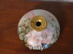 Antique Limoges Hand Painted J. P. L. Squat Vase Roses Signed By Artist