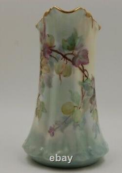 Antique Limoges Hand Painted Tankard Pitcher Vase