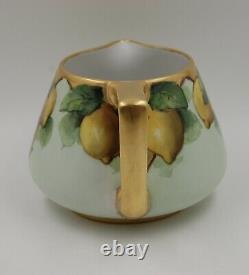 Antique Limoges Handpainted Cider Pitcher Vase