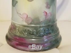 Antique Limoges Pitcher Tankard Grapes Large 14.5 Stunning! Hand painted