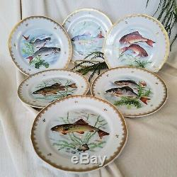 Antique Limoges Style Hand Painted Salad/Luncheon Plates Lot of 12 Designs