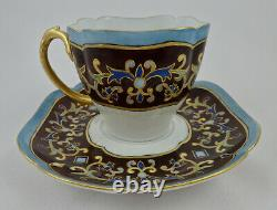 Antique Limoges Tea Cup & Saucer Hand Painted