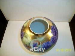 Antique RARE 1890s T&V Limoges France Depose Footed Porcelain Vase Hand Painted