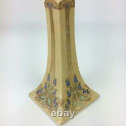 Antique Set B & Co Limoges France Porcelain Hand Painted Candle Holders Signed