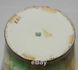 Antique T&V Limoges Tressemann & Vogt Hand Painted Vase 11 Artist Signed France