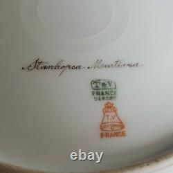 Antique T&v Limoges France Hand Painted Orhids Plate Signed By Artist Rare #3