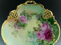 Antiques Rosenthal Hand Painted Roses Plate
