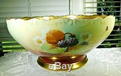 BLACKBERRY T & V Limoges Centerpiece hand painted by Pickard Artist Signed