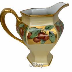 B&C Limoges France Bernardaud & Co Handpainted Cider Pitcher T&V 6 Cups Antique