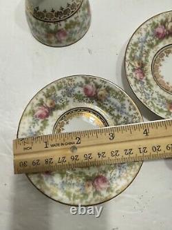 Bailey Banks And Biddle Hand Painted Rare CA Depose Bone China Tea Set Of 6