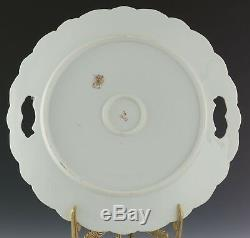 Bavaria Hand Painted Roses Cake Plate