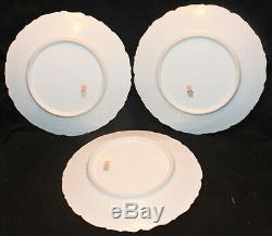 Beautiful Limoges Hand Painted Thistle 7 Piece Set