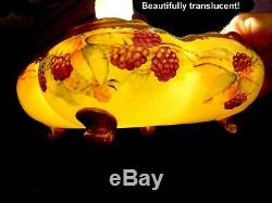 Biggorgeousthickgoldhandpaintedblackberriesbowl-signedlimogesrelated