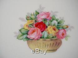 Charles Ahrenfeldt 6 Plates 10.25 Floral Gold Encrusted Handpainted Mireille