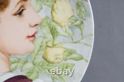 Chas Haviland Limoges Hand Painted Signed MK Renaissance Portrait Charger 1880