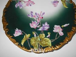 Circa 1892-1907 Antique T&V, Limoges France, Hand Painted Floral Plate. Mint
