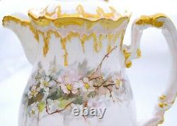 Coiffe Limoges France Antique Hand Painted Signed Chocolate Pot