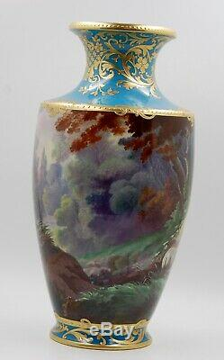 Exquisite Limoges France Hand Painted Gold Encrusted & Jewels Vase Wow