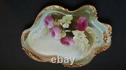 Fabulous Hand Painted Jean Pouyat Signed Emile Vanity Tray 12.5 x9