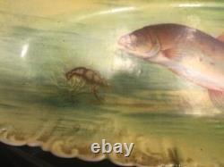 Fantastic limoges Fish platter, hand painted