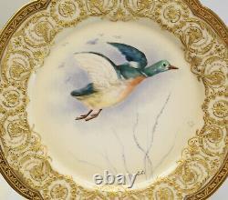 Gorgeous Limoges Avenir for Tiffany & Co Hand Painted Porcelain Cabinet Plates