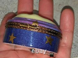Gorgeous ROCHARD Limoges France Hand Painted MOON Trinket Pill Ring Box