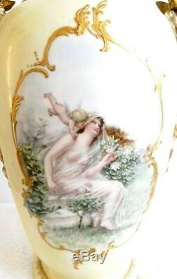 Guerin Limoges LARGE hand painted finest quality vase pre 1891