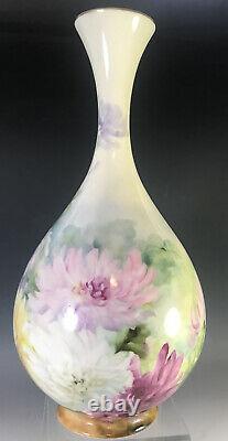 Hand Painted Chrysanthemums Vase