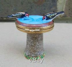 Hand Painted LIMOGES Artoria Bird Bath Trinket Box