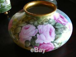 Hand Painted Roses Large Vase