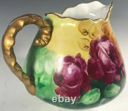 Hand Painted Roses Pitcher