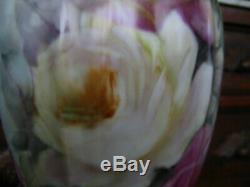 Hand Painted Roses Tankard Vase 14