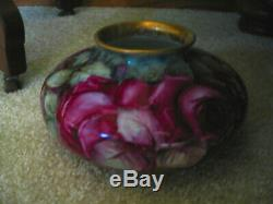 Hand Painted Roses Vase
